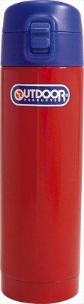 アウトドアプロダクツ ステンレスボトル ワンプッシュ レッド 314-089