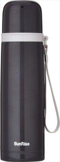 サンライズ 真空二重ステンレスボトル 500mL ブラック SR-37 B