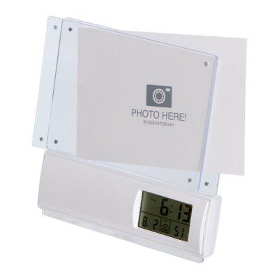 画像3: フォトフレーム電波時計 1個より名入れできます。