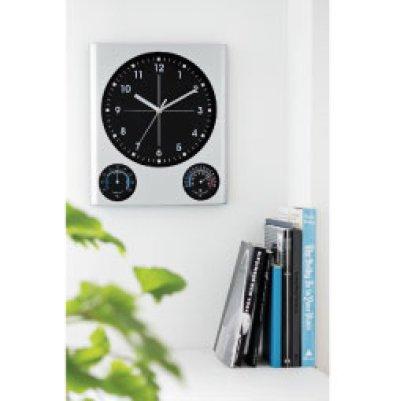 画像1: BIG掛時計(温湿度計付)