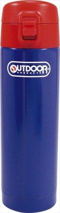 アウトドアプロダクツ ステンレスボトル ワンプッシュ ブルー 314-090