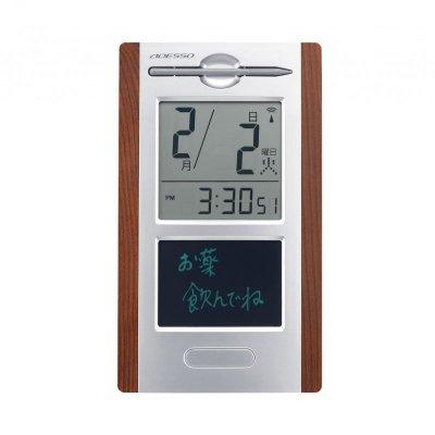 日めくり電波時計 withメモパッド